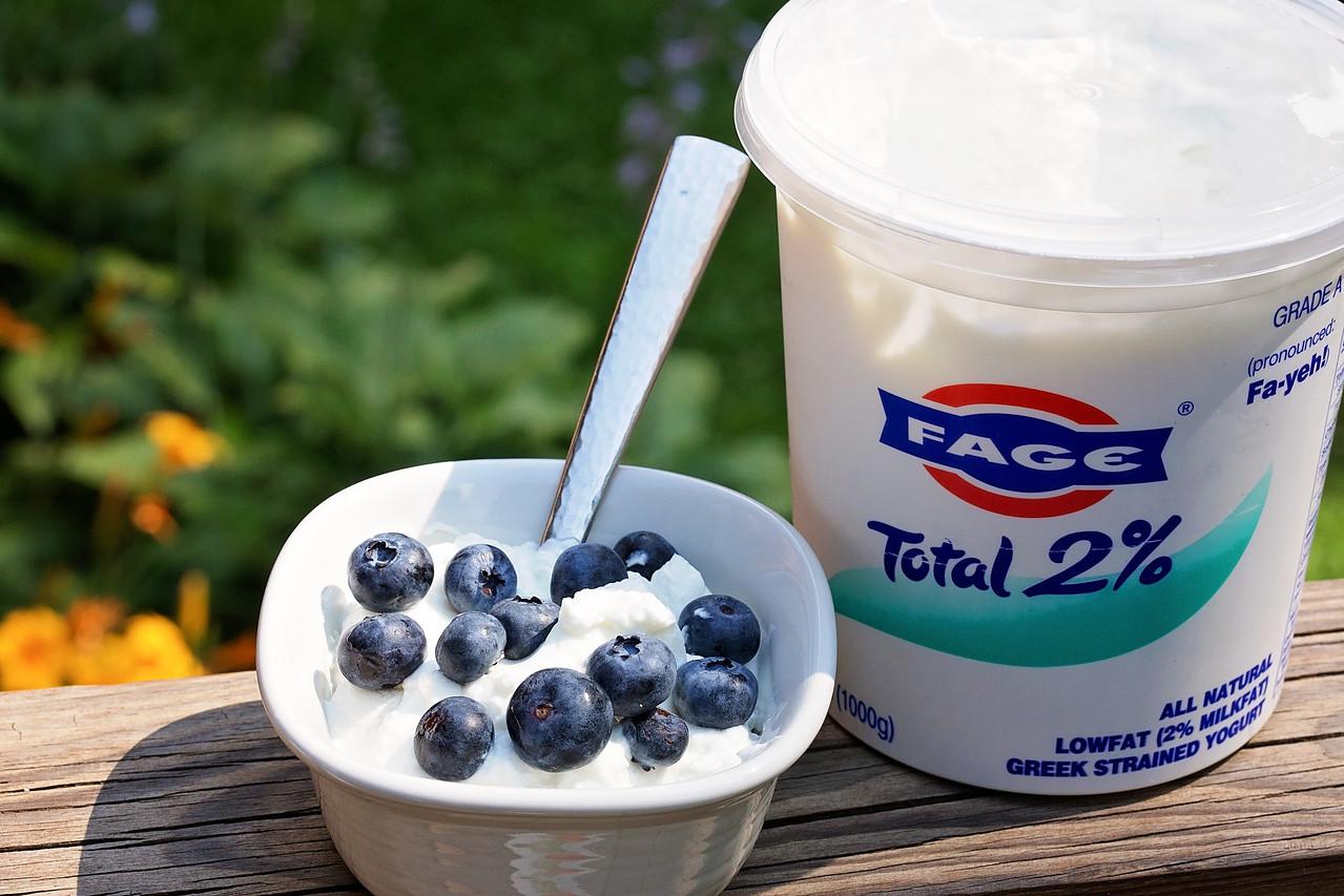 Greek Yogurt with Honey & Blueberries