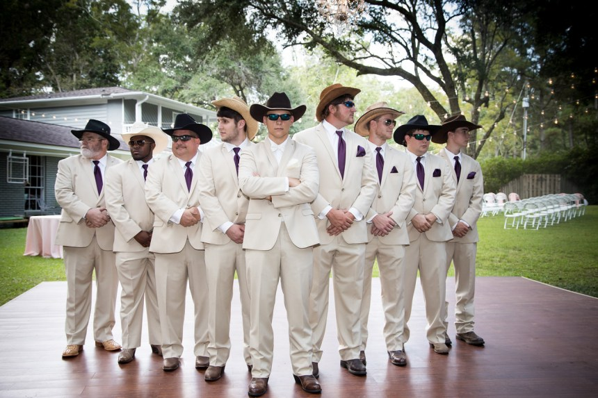 Photographed in September.  The groomsmen ready for the wedding.