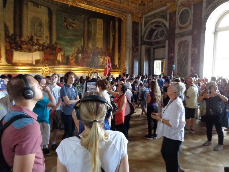 The reality of visiting the Chateau de Versailles: Overcrowded rooms and endless tour groups. Photo credit: Michelle Vogel