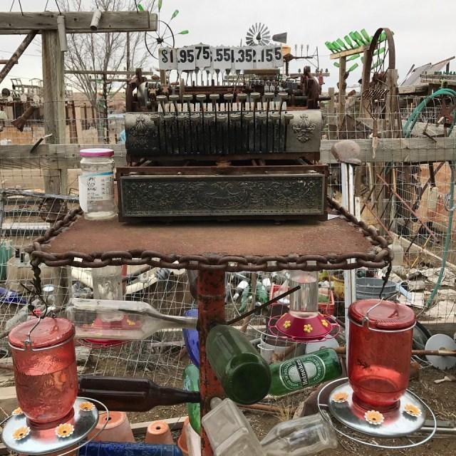 old cash register at Elmer's bottle tree ranch