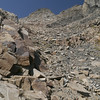Typical steep chute. Summit ahead.