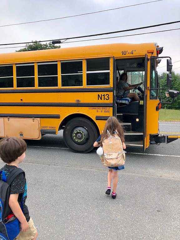 School buses are the safest form of transportation to and from school. Read 5 school bus safety tips for your kids, and cleaner air. #ad #PERCBusSafetyTips