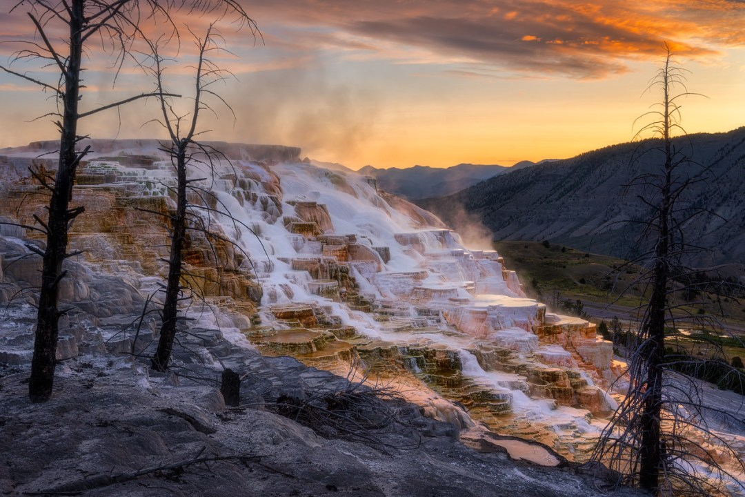 Mammoth Hot Springs Yellowstone National Park Wyoming
