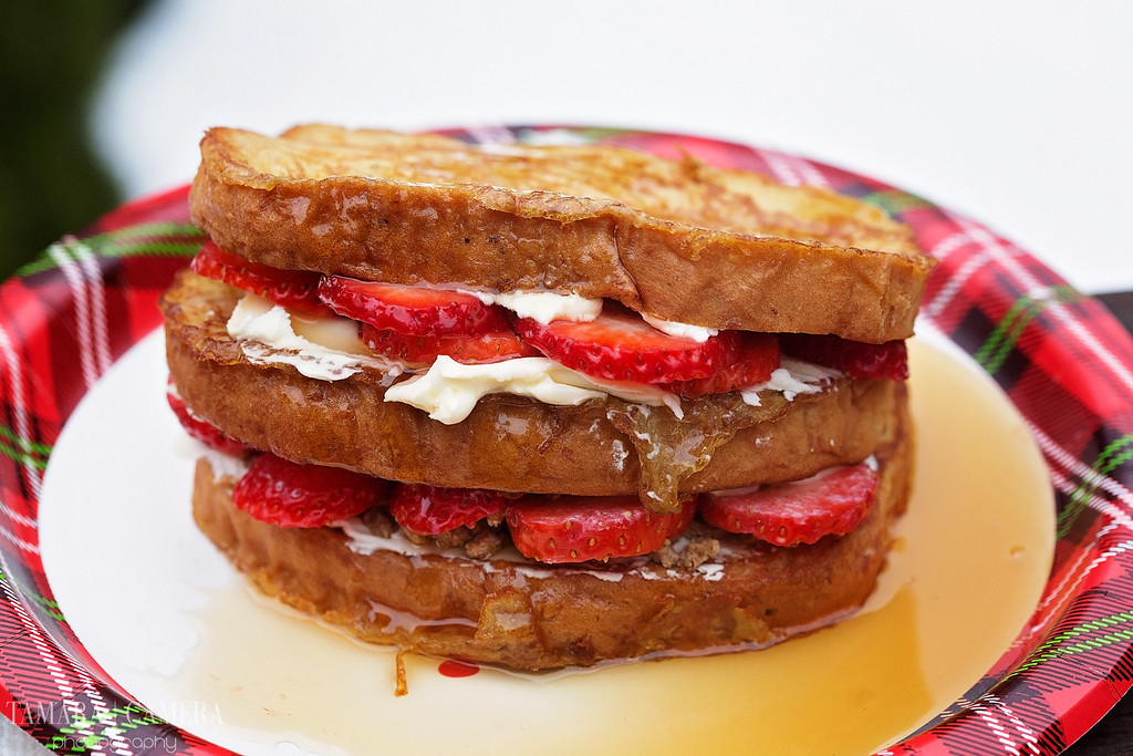 Crunchy Berry Stuffed French Toast