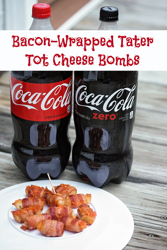 Planning a football game party? These #Bacon-Wrapped Tater Tot Cheese Bombs are filled with flavor. Pair with your favorite drink! #DGUnitedByFootball #ad