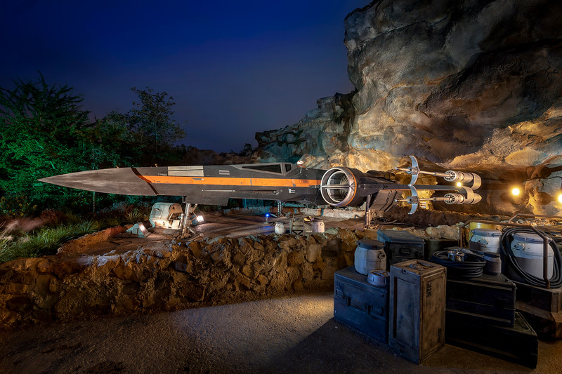 Poe Dameron's X-Wing Starfighter in Star Wars: Rise of the Resistance