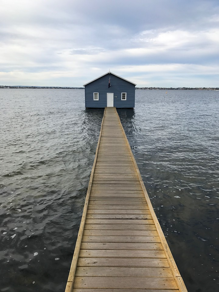Crawley Edge Boatshed Blue Boat House