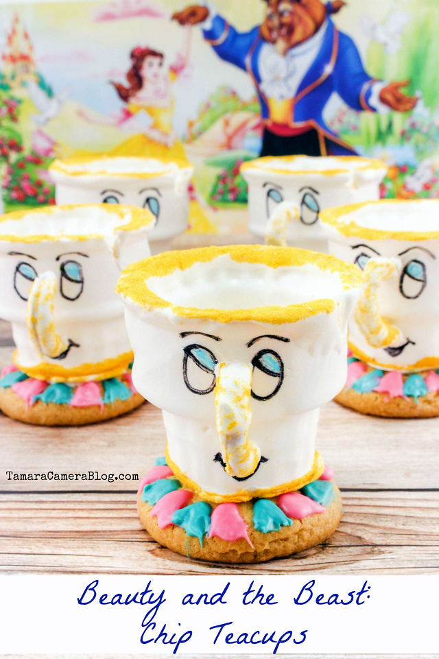 With just a few ingredients and these instructions, you can make adorable #BeautyandTheBeast Chip Teacups! Fill them with your treat of choice! #DIY #Recipe