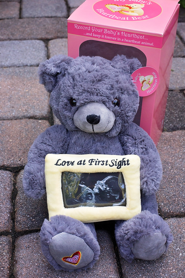 My Baby's Heartbeat Bear is a cute, cuddly stuffed animal to make the perfect keepsake for expecting parents. Choose your favorite bear and record heartbeat