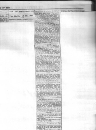 Cincinnati Gazette, July 29, 1864, courtesy of Cincinnati Public Library