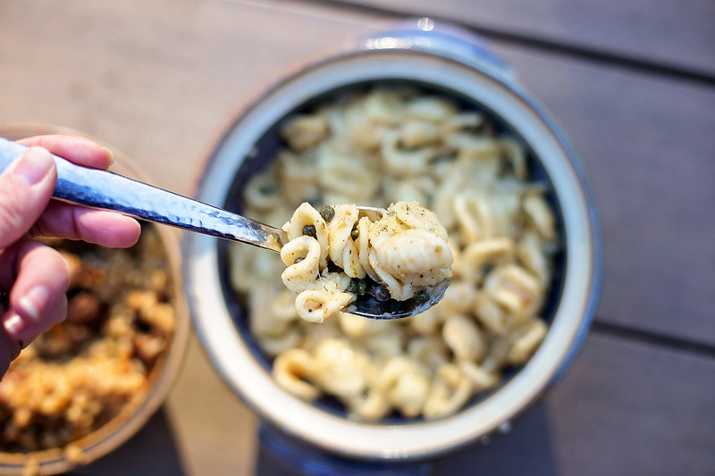pasta in garlic butter capers sauce