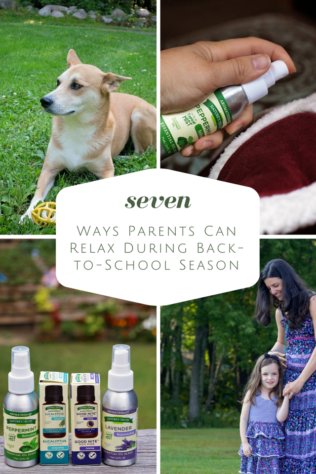 Is back to school time super hectic for you too? Here, we discover 7 ways parents can RELAX during the season. #ad #EmbraceEssentialOils #StimulateTheSenses
