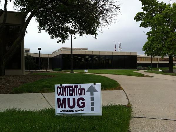 CONTENTdm MUG Directional Sign