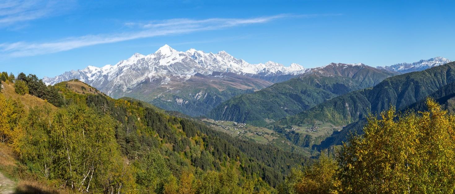 View towards Mt. Shkhara