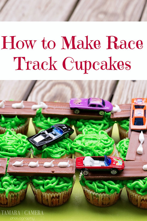 Ready for Race Day? Follow this tutorial for a Race Track Cupcake Display! Use for any birthdays or any Race Day party to delight your kids. #RaceDayRelief