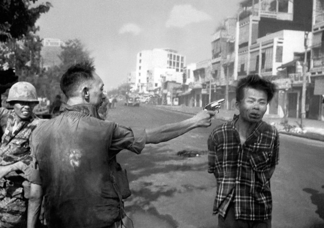 The moment of the execution of Nguyen Van Lem by a south Vietnamese