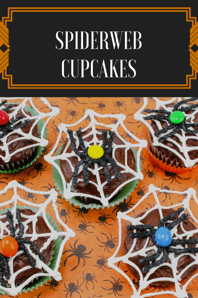 These amazing Spiderweb Cupcakes are easy to make but will WOW your #Halloween party guests. See what inspires our #recipes for all of the fall holidays #ad
