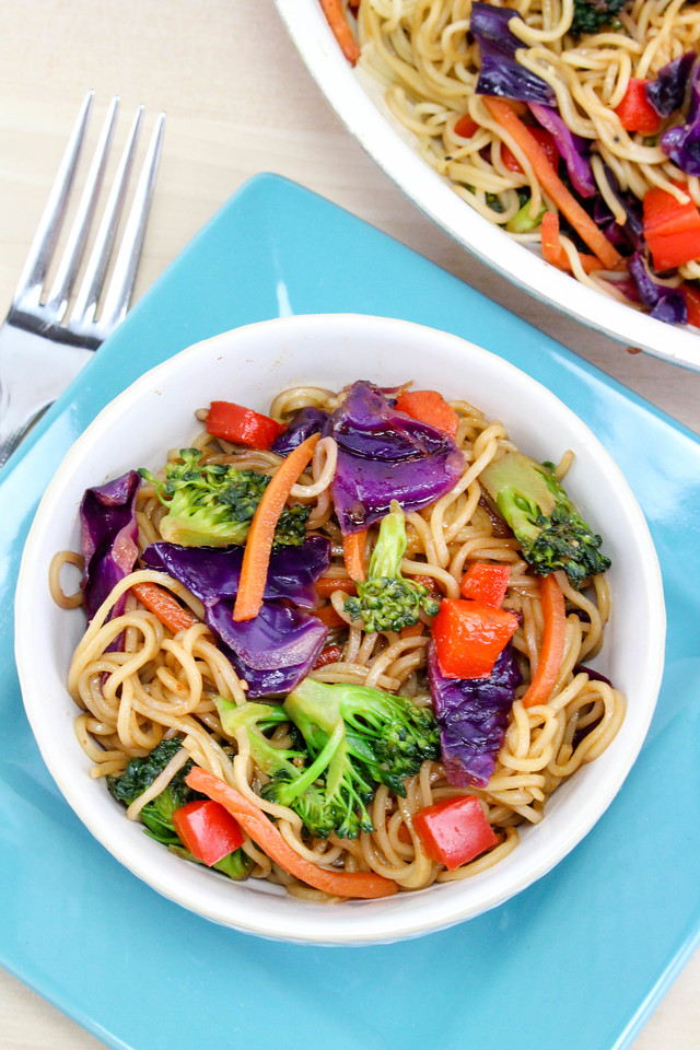 This Chinese Noodles Vegetable Stir Fry Recipe makes for a perfect family meal! It's easy to make, delicious, and colorful. Add this to your meal lineup!