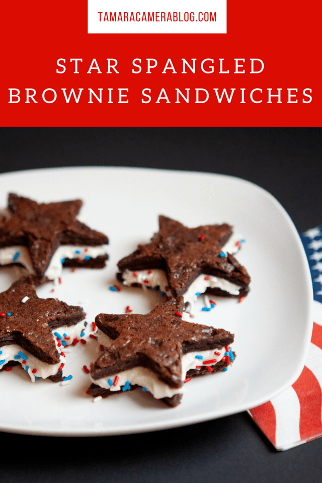 Are you looking for easy Memorial Day or July 4th party dessert recipes? Try this Star Spangled Easy Brownie Recipe. #recipes #MemorialDay #FourthofJuly