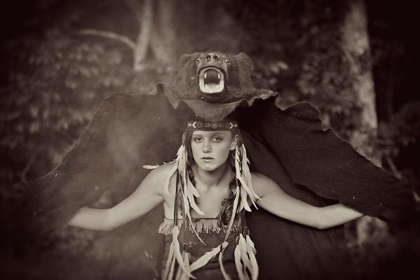 Native bear senior portrait by Amanda Reed Photography