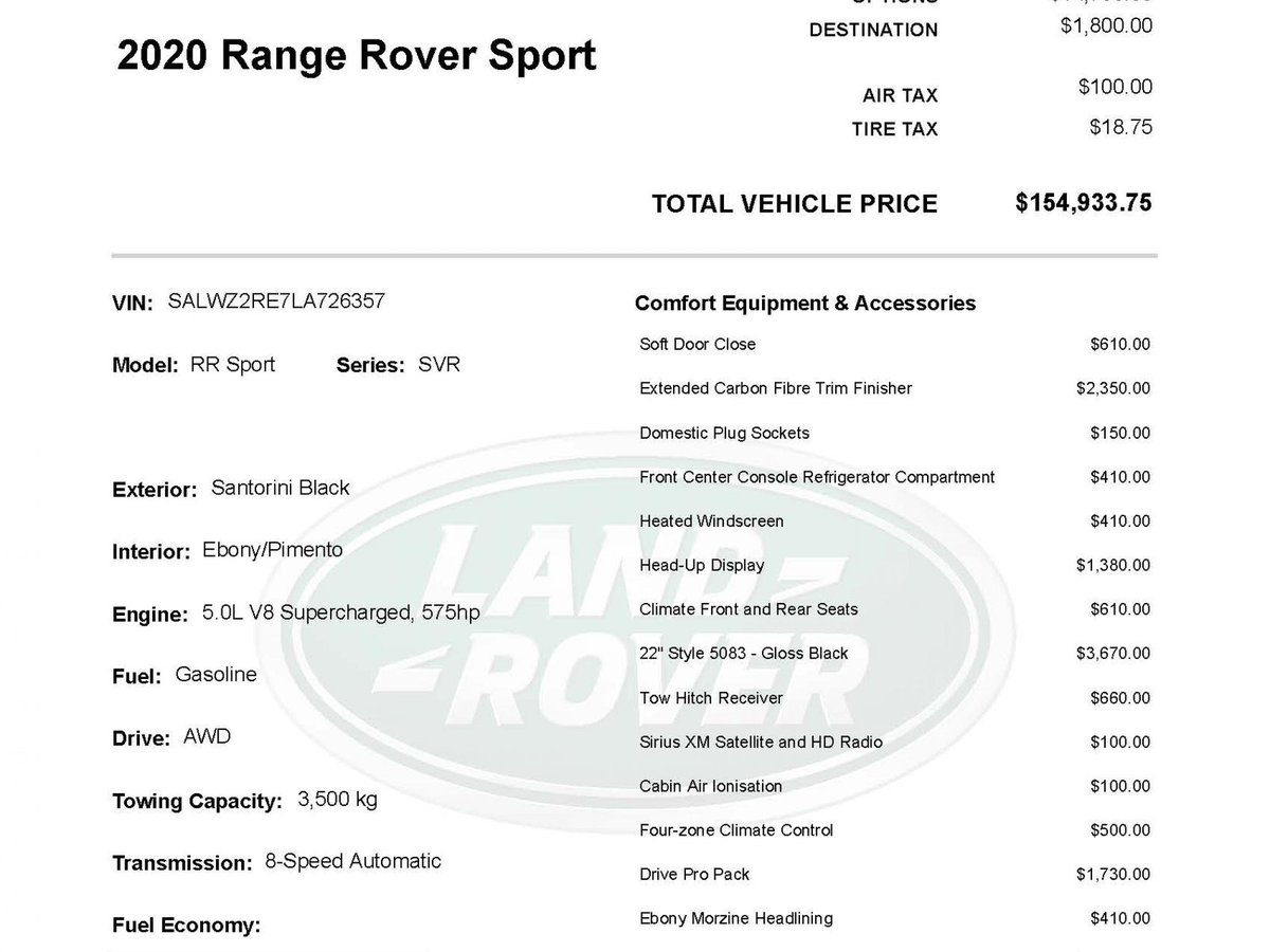 Land Rover Range Rover Sport For Sale In Winnipeg