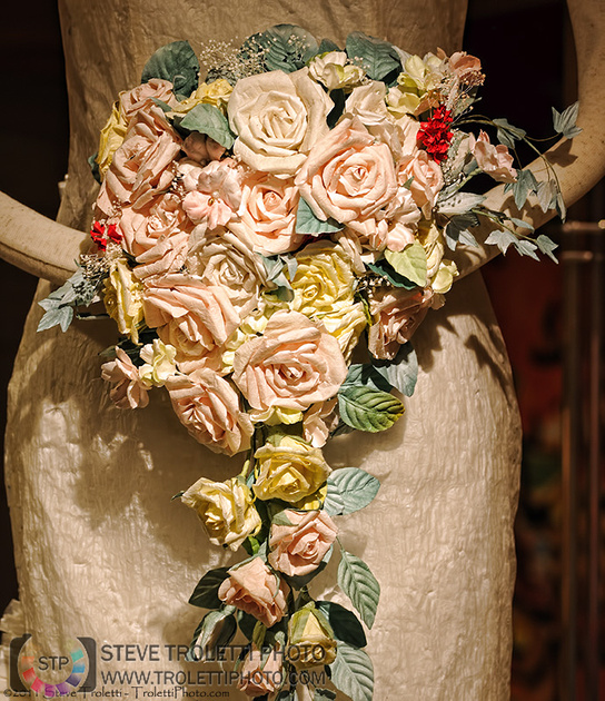 Mino Paper Wedding Gown and Bouquet - by Steve Troletti