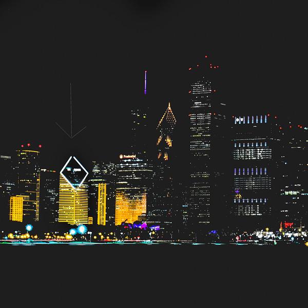Adler; Chicago; Planetarium; Skyline; building