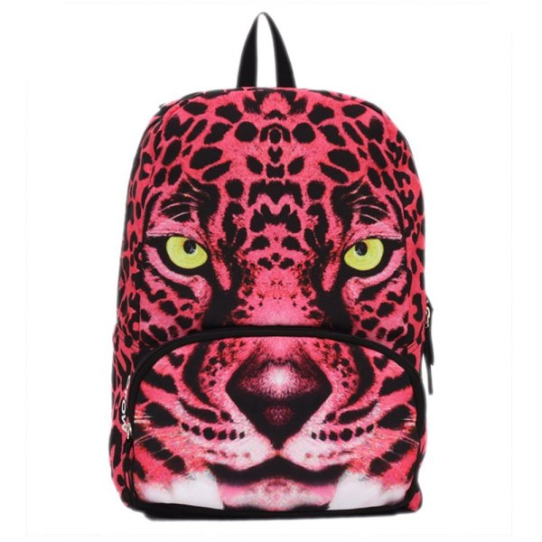 Mojo Women Girls Hot Pink Panther Cat Backpack School Book Bag Ku9982724