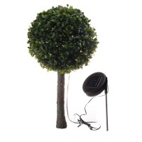 Solar Outdoor Garden 10 LED Topiary Decorative Tree Accent ...