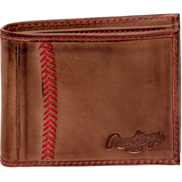 Rawlings Mens Tannedleather Baseball Stitch Embroidered