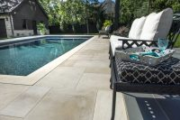 Natural Stone modern pool deck and Patio - Photos