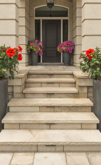 Natural Stone Front Entrance and steps  Photos