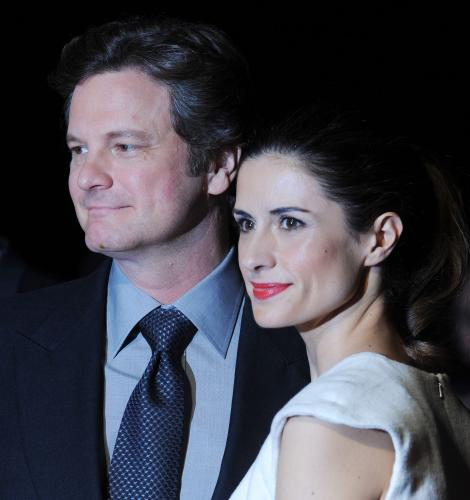 "Colin Firth and Livia Giuggioli attend ""London Film Critics' Circle Awards"""