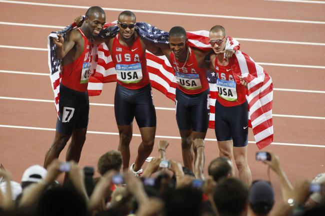 Nor did the 1600 meter relay mens team