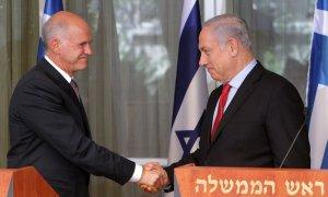 Greek Prime Minister George Papandreou meets Israeli Prime Minister Benjamin Netanyahu in Jerusalem