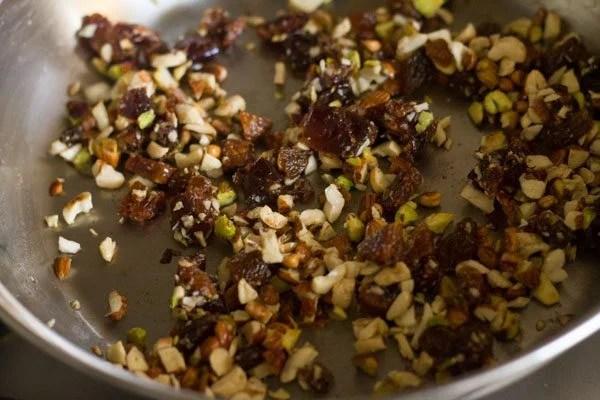 dry fruits to make modak recipe