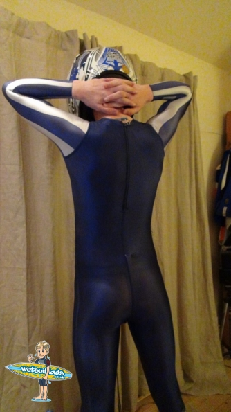 Chastity Belt under Adidas full body suit