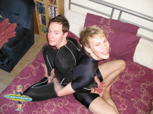 Daniel and Mike in lycra