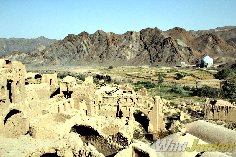 The abandoned mud brick city of Kharanaq