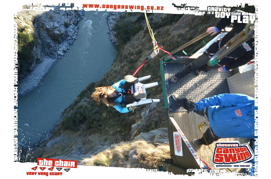 swing chair over canyon tri fold beach lounge shotover the world s highest cliff jump wild junket