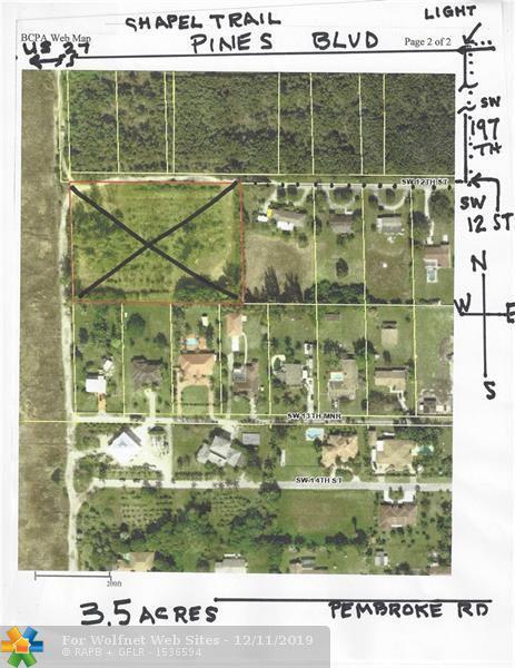 Property for sale at 19780 SW 12 St, Pembroke Pines,  Florida 33029