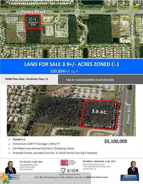 Property for sale at 19000 Pines Blvd, Pembroke Pines,  Florida 33029
