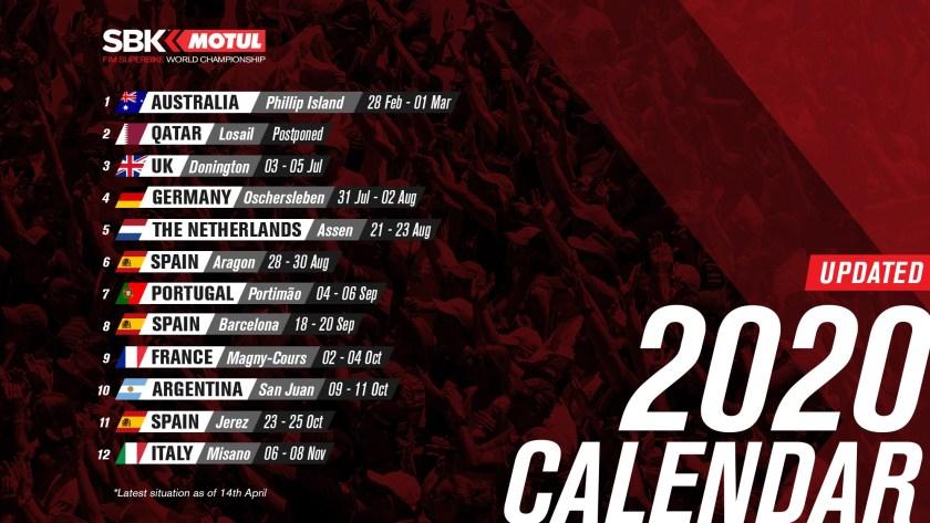 Aggiornato Calendario Superbike