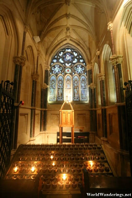 Inside the Gothic Church at Kylemore Abbey