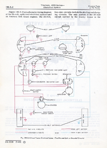 Wiring Diagram John Deere 4020 Tractor Manual : 45 Wiring