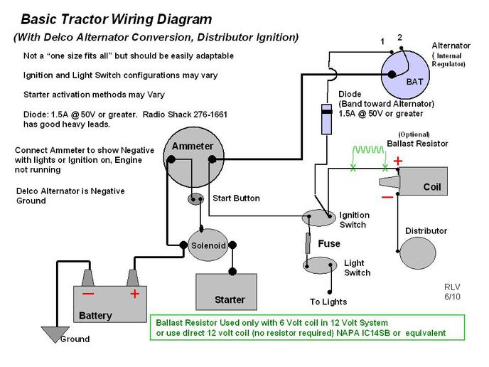 a130090 12 volt alternator wiring diagram efcaviation com tractor alternator wiring diagram at soozxer.org