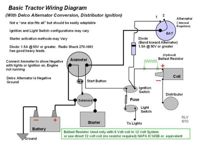 tractor alternator wiring diagram the wiring three wire alternator wiring diagram tractor automotive