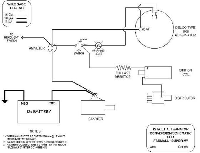 farmall super c 12 volt wiring diagram circulatory system to label tractor schematic electric online bolens 1050 for