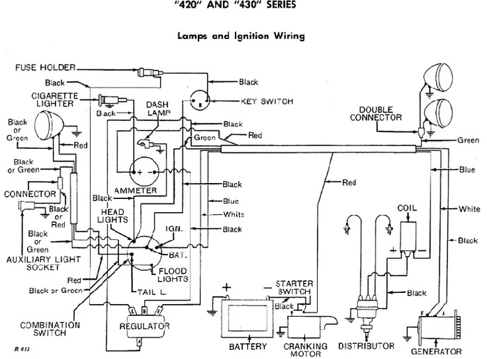 Case 430 Tractor Wiring Diagram. 1969 430 gas wiring