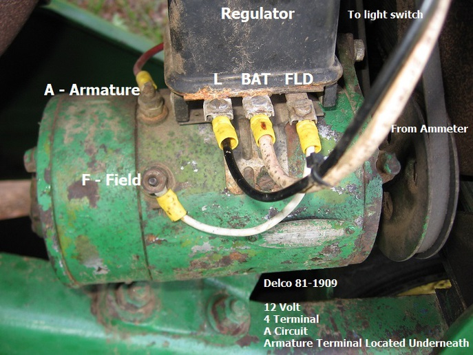 John Deere 820 Ignition Wiring Diagram 53 Jd 50 Voltage Regulator 3 Yesterday S Tractors